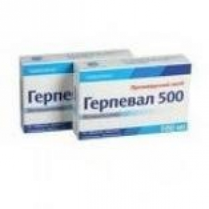 Tablets against herpes simplex type 1 and 2