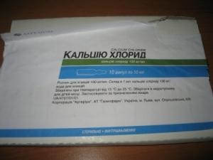 Кальция хлорид цена и наличие в аптеках