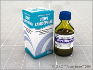 Камфорный спирт в аптеках