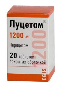 Луцетам цена и наличие в аптеках