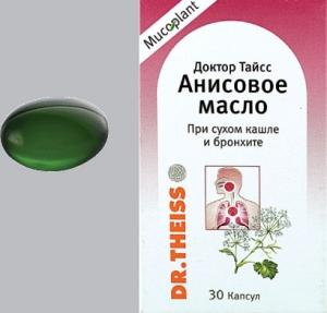 Анисовое масло цена и наличие в аптеках